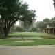 Collegiate quadrangle on college campus