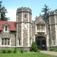 Large gothic grey brick gate