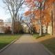 collegiate campus in autumn