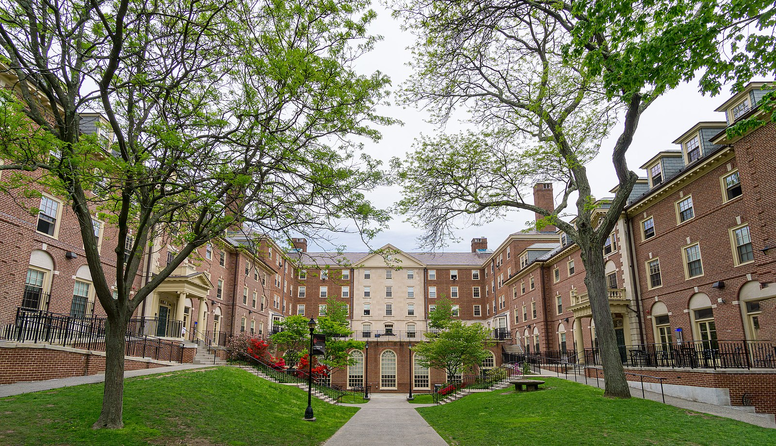 Large red brick building on Brown University's campus